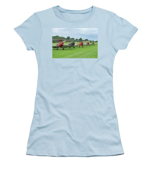Women's T-Shirt (Athletic Fit) featuring the photograph Tiger Moths Formation Shutdown by Gary Eason
