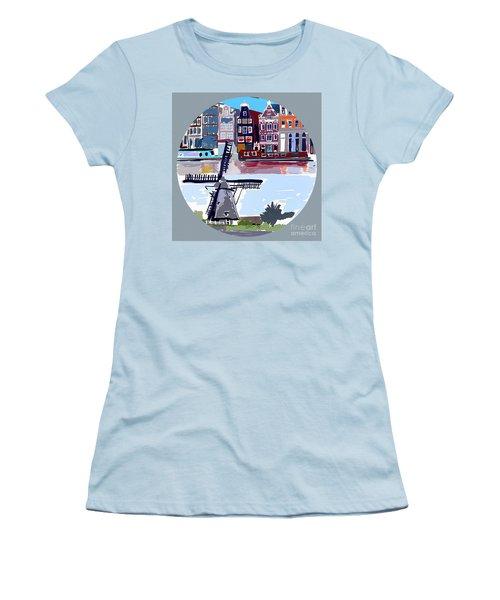 Tilting Windmills Women's T-Shirt (Athletic Fit)