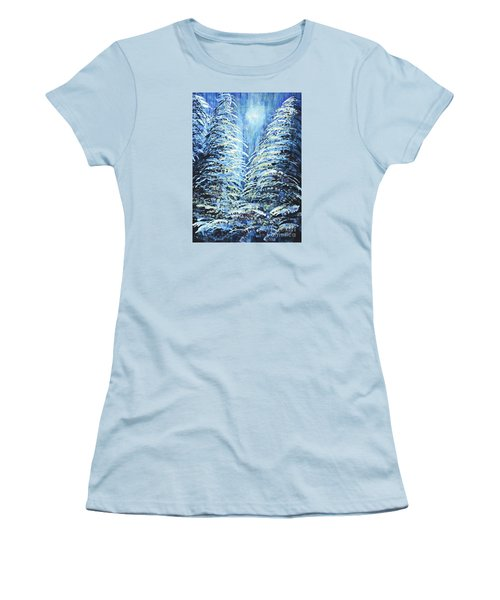 Tim's Winter Forest Women's T-Shirt (Athletic Fit)