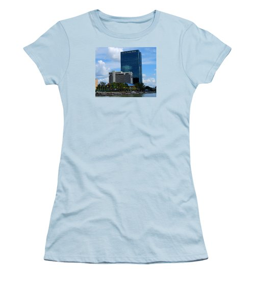Toledo's Waterfront I Women's T-Shirt (Junior Cut) by Michiale Schneider