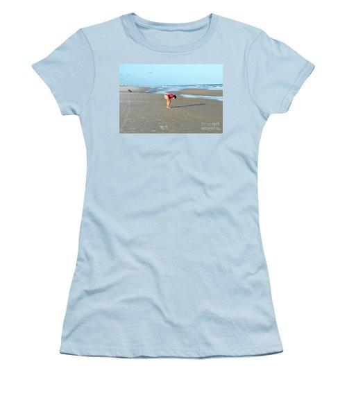 Topsail Island Beach Women's T-Shirt (Junior Cut) by Eva Kaufman