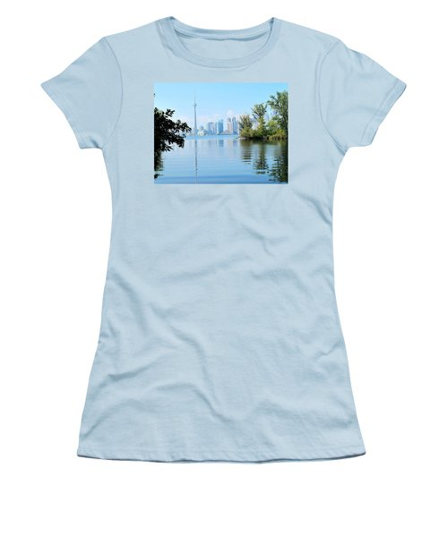 Toronto From The Islands Park Women's T-Shirt (Junior Cut) by Ian  MacDonald