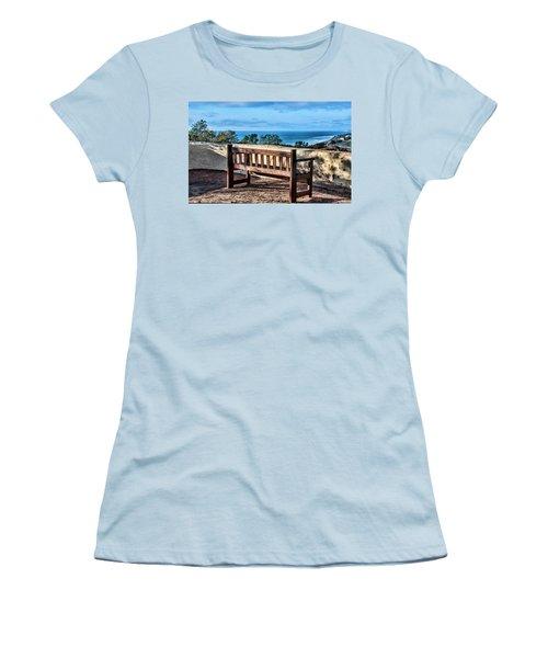 Torrey Pines View Women's T-Shirt (Junior Cut) by Daniel Hebard