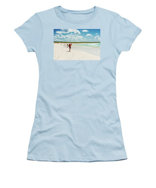 Tortuga Bay Beach At Santa Cruz Island In Galapagos  Women's T-Shirt (Athletic Fit)