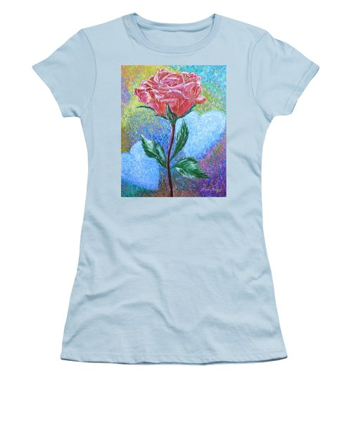 Touched By A Rose Women's T-Shirt (Athletic Fit)
