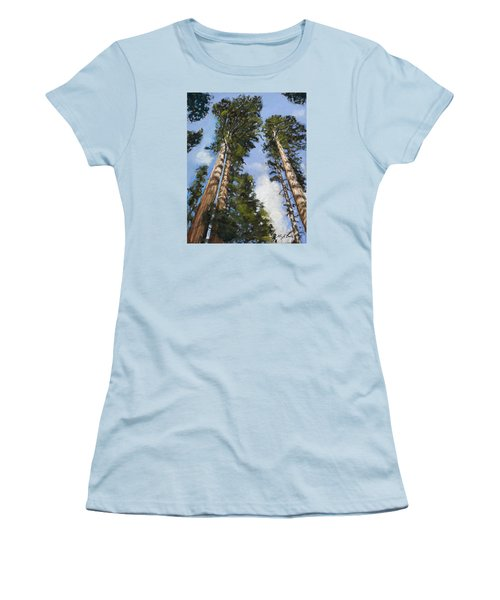 Towering Sequoias Women's T-Shirt (Athletic Fit)