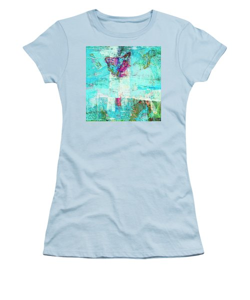 Women's T-Shirt (Junior Cut) featuring the painting Towers by Dominic Piperata