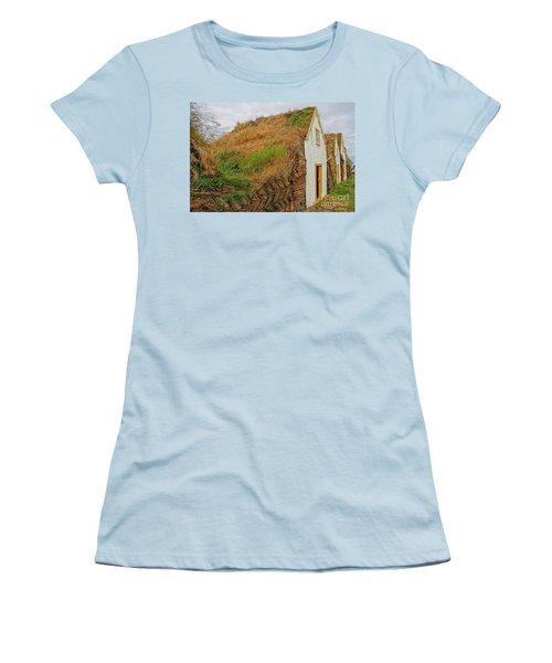 Traditional Turf Houses In Iceland Women's T-Shirt (Athletic Fit)