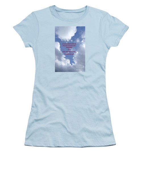 Transmit Compassion And Love Women's T-Shirt (Junior Cut) by Nora Boghossian