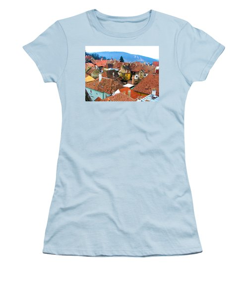 Transylvania Rooftops Women's T-Shirt (Athletic Fit)