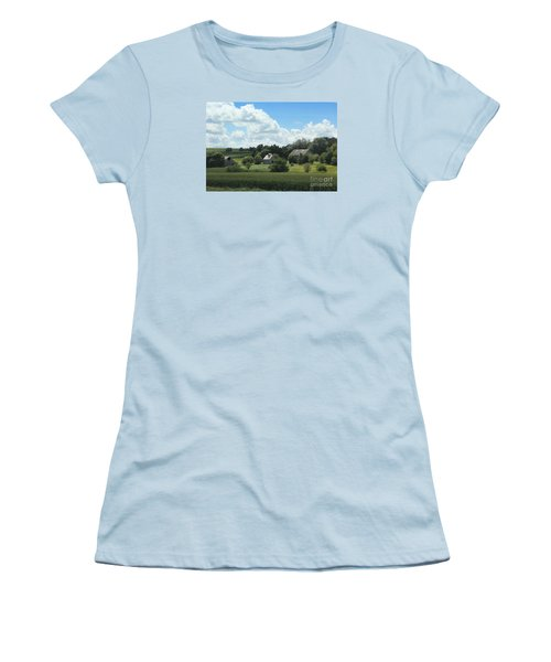 Three Barns Women's T-Shirt (Junior Cut) by Yumi Johnson
