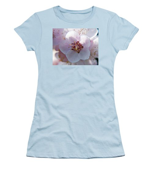 Women's T-Shirt (Junior Cut) featuring the photograph Tree Blossoms by Elvira Ladocki