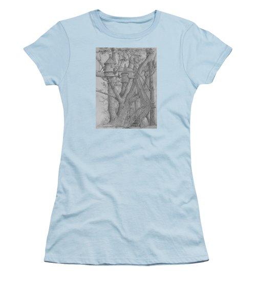 Tree House #3 Women's T-Shirt (Junior Cut) by Jim Hubbard