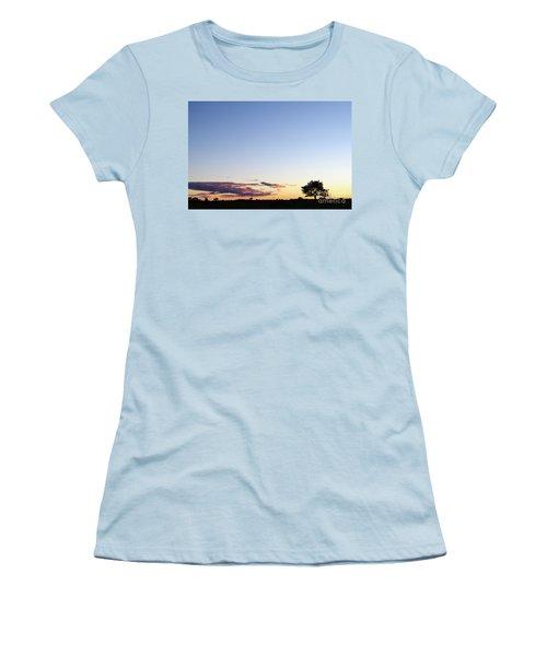 Tree Silhouette By Twilight Women's T-Shirt (Junior Cut) by Kennerth and Birgitta Kullman