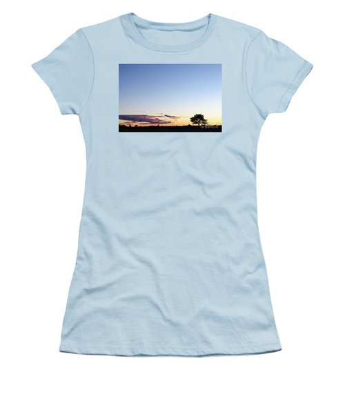 Tree Silhouette By Twilight Women's T-Shirt (Athletic Fit)