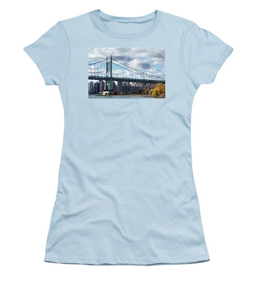 Triboro Bridge In Autumn Women's T-Shirt (Athletic Fit)