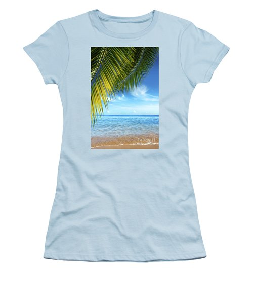 Tropical Beach Women's T-Shirt (Athletic Fit)