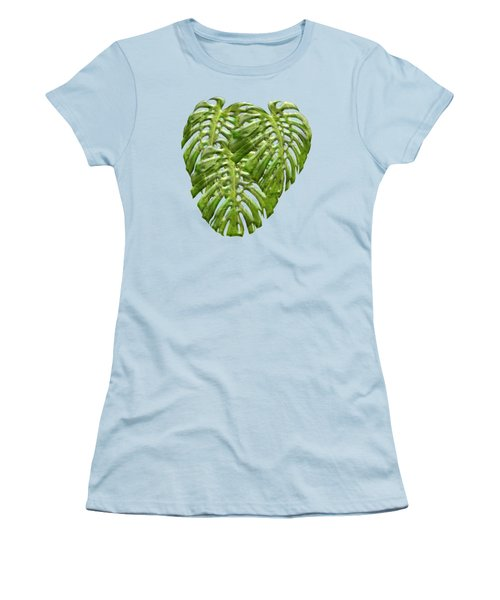 Tropical Jungle Greens Women's T-Shirt (Athletic Fit)