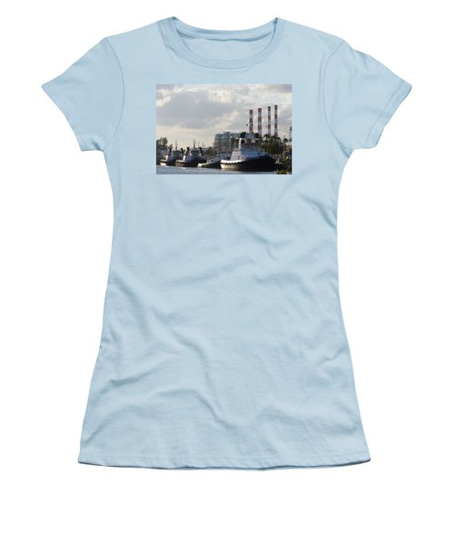 Tugs Women's T-Shirt (Junior Cut) by Ed Gleichman