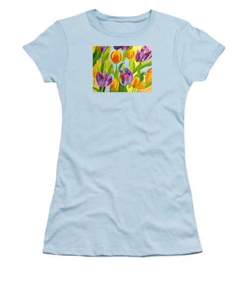 Tulip Fest Women's T-Shirt (Junior Cut) by Meryl Goudey