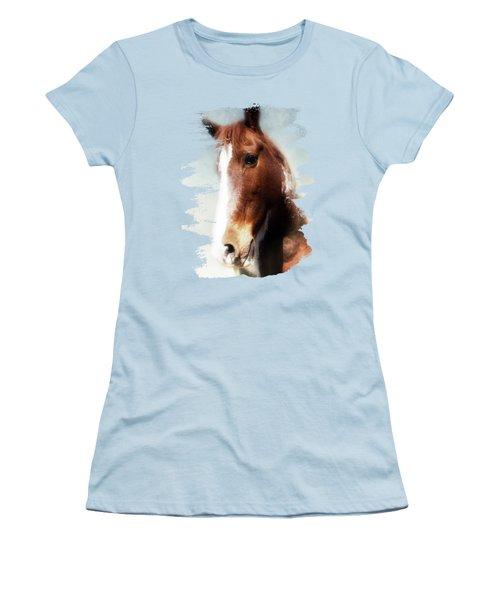 Tumbleweed Sideways Glance Women's T-Shirt (Junior Cut) by Anita Faye