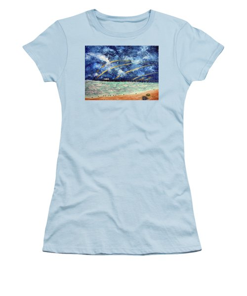 Turbulence At  Nj Shore Women's T-Shirt (Athletic Fit)