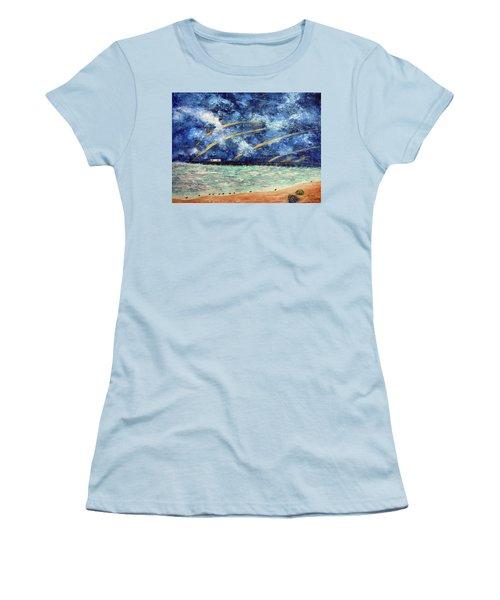 Turbulence At The Nj Shore Women's T-Shirt (Athletic Fit)