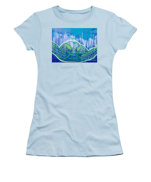 Turtle Women's T-Shirt (Junior Cut) by Andres Pola