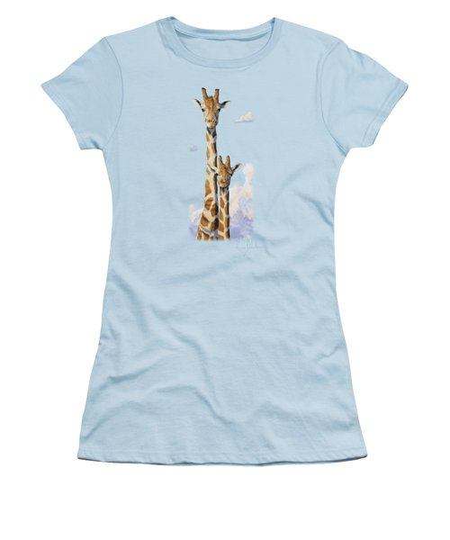 Two Heads In The Clouds Women's T-Shirt (Junior Cut) by Lucie Bilodeau