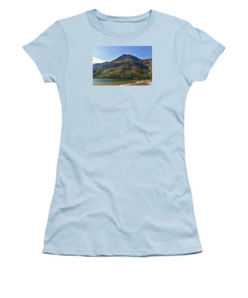 Women's T-Shirt (Junior Cut) featuring the photograph Two Medicine Lake by Dacia Doroff