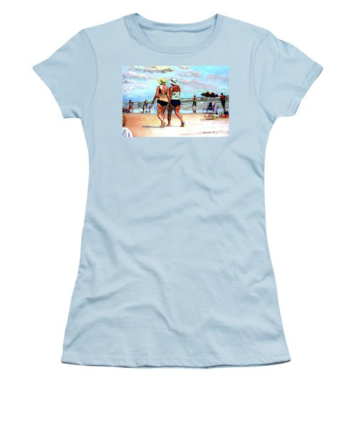 Two Women Walking On The Beach Women's T-Shirt (Athletic Fit)