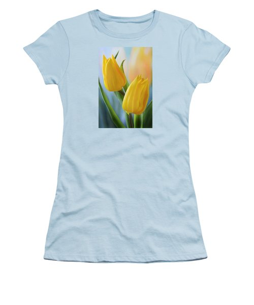 Two Yellow Spring Tulips Women's T-Shirt (Junior Cut) by Terence Davis