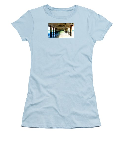 Women's T-Shirt (Junior Cut) featuring the photograph Anna Maria Island Pier Excellence In Photography Award 2016 by Margie Amberge