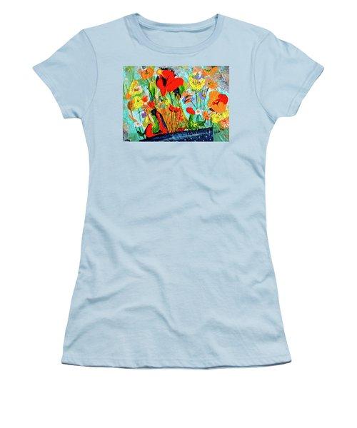 Unexpected Flower Basket Women's T-Shirt (Athletic Fit)