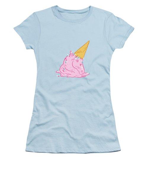 Unicorn Melts Women's T-Shirt (Junior Cut) by Evgenia Chuvardina
