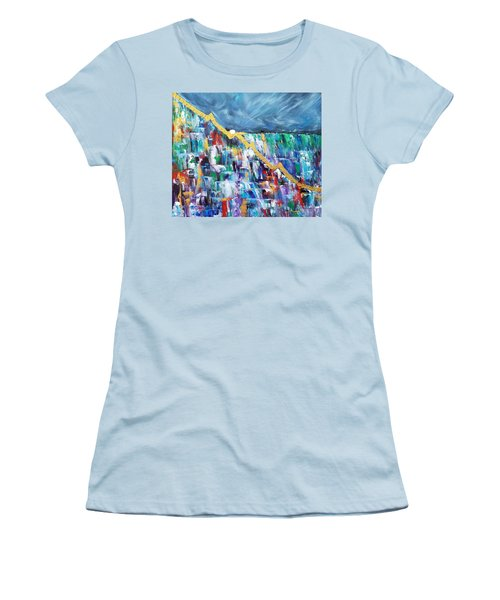 Women's T-Shirt (Athletic Fit) featuring the painting Untitled by Judith Rhue