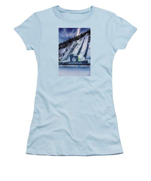 Utah Olympic Park Women's T-Shirt (Junior Cut) by David Millenheft