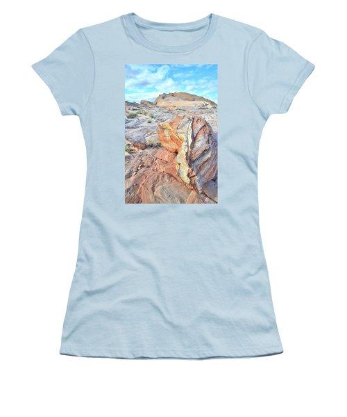 Valley Of Fire Alien Boulder Women's T-Shirt (Junior Cut) by Ray Mathis