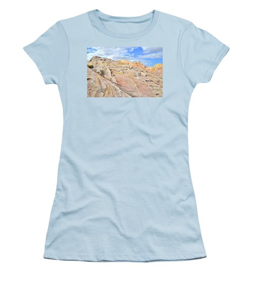 Valley Of Fire High Country Women's T-Shirt (Junior Cut) by Ray Mathis
