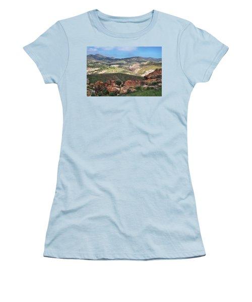 Vasquez Rocks Park Women's T-Shirt (Junior Cut) by Kyle Hanson