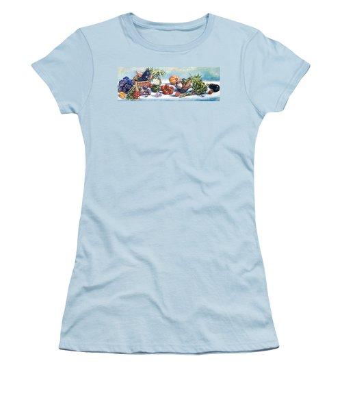 Veggies  Women's T-Shirt (Junior Cut) by Alexandra Maria Ethlyn Cheshire