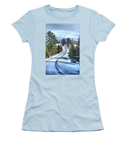 Vermont Country Landscape Women's T-Shirt (Athletic Fit)
