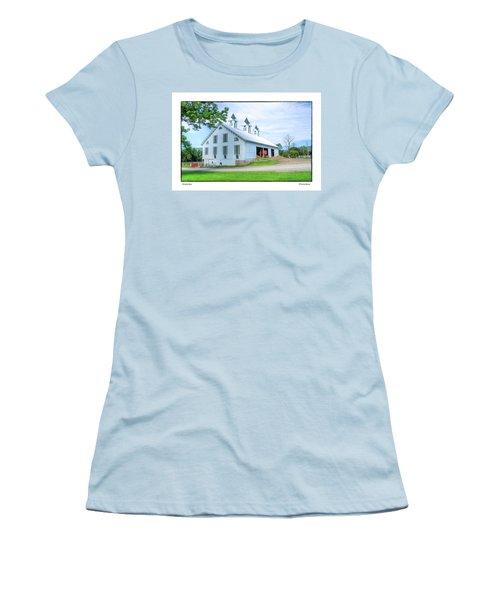 Victorian Barn Women's T-Shirt (Junior Cut) by R Thomas Berner