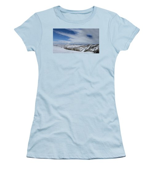 View From The Slope Women's T-Shirt (Junior Cut) by Sean Allen