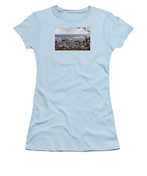 View Of The Jacques Cartier Bridge Women's T-Shirt (Junior Cut) by Reb Frost
