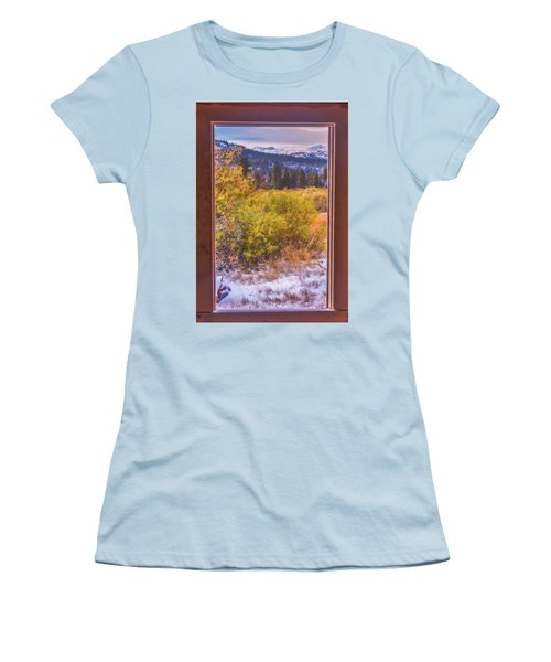 View Out The Frame Of A Broken Window Women's T-Shirt (Junior Cut) by Marc Crumpler