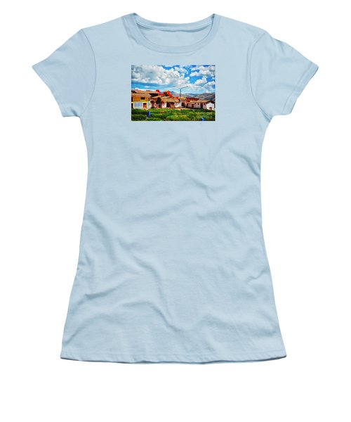 Village Up High In Peruvian Mountains Women's T-Shirt (Athletic Fit)
