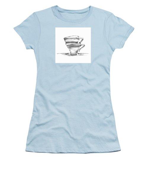 Vintage Cups Women's T-Shirt (Junior Cut) by Brenda Bryant