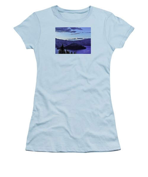 Women's T-Shirt (Junior Cut) featuring the photograph Volcano Within by Nancy Marie Ricketts