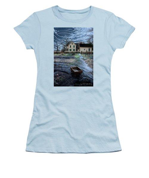 Wagon Women's T-Shirt (Junior Cut) by Joan Ladendorf